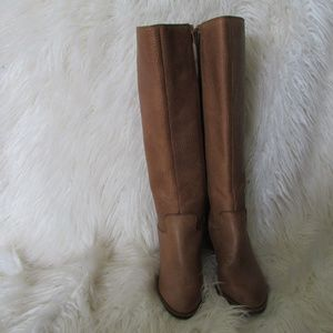 Lucky Brand leather tan boots